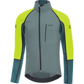 GORE WEAR C7 Pro Gore Windstopper Zip-Off Jersey Herren nordic blue/citrus green